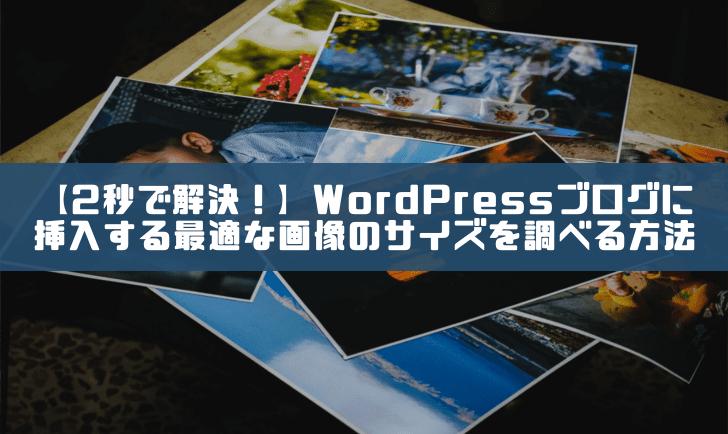 【2秒で解決!】WordPressブログに挿入する最適な画像のサイズを調べる方法