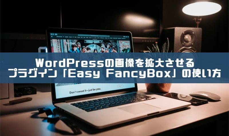 WordPressの画像を拡大(ポップアップ)させるプラグイン「Easy FancyBox」の使い方